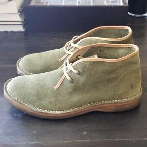 Frye green suede chukka boots